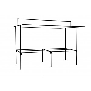 1.2m Deep Table Type Stall-Single Unit-1.8m x 1.2m-Frame Only-N/A