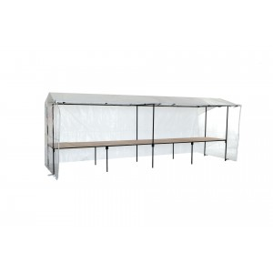 1.2m DeepTable Type Stall-Double Unit-9m x 1.2m-Starter Kit (1.2m deep table type)-Standard White