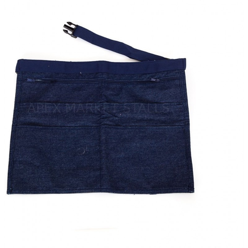 6 Pocket Denim Money Bag