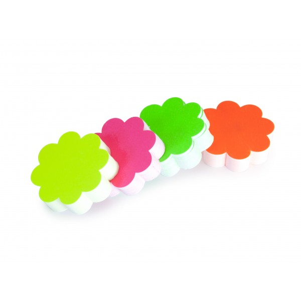 Fluorescent Flower Shape Card