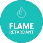 Flame retardant badge